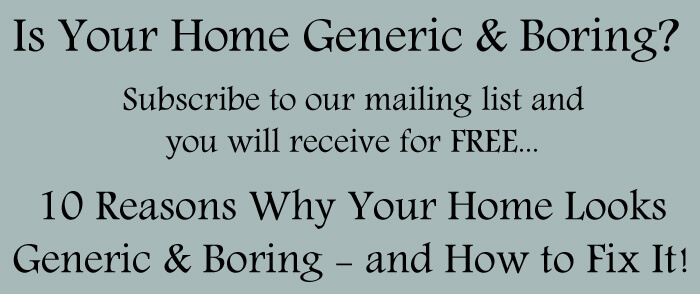 Is your home generic and boring?