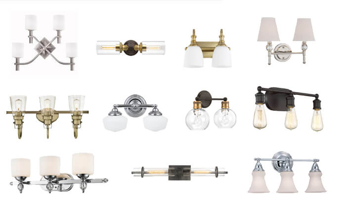 Designer vanity lights under 100