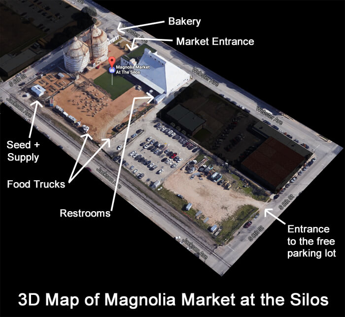 Magnolia Market Map - Waco, Texas