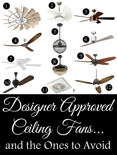 designer approved ceiling fans