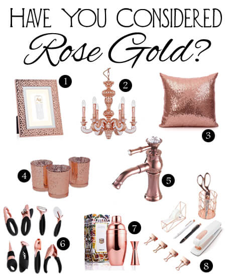 Haev you considered rose gold in your home decor?