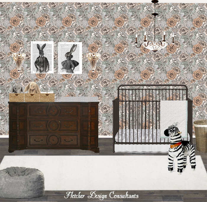 Designing A Baby S Room Consider The Following Points: Peach, Green, And Gray Victorian Inspired Nursery